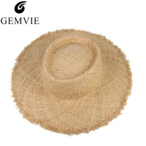 Floppy Raffia Large Brim Straw Hat Dome Jazz Caps Sombrero Beach Hat  Outdoor Summer Sun Hats For Men b94d1f7a8e2e