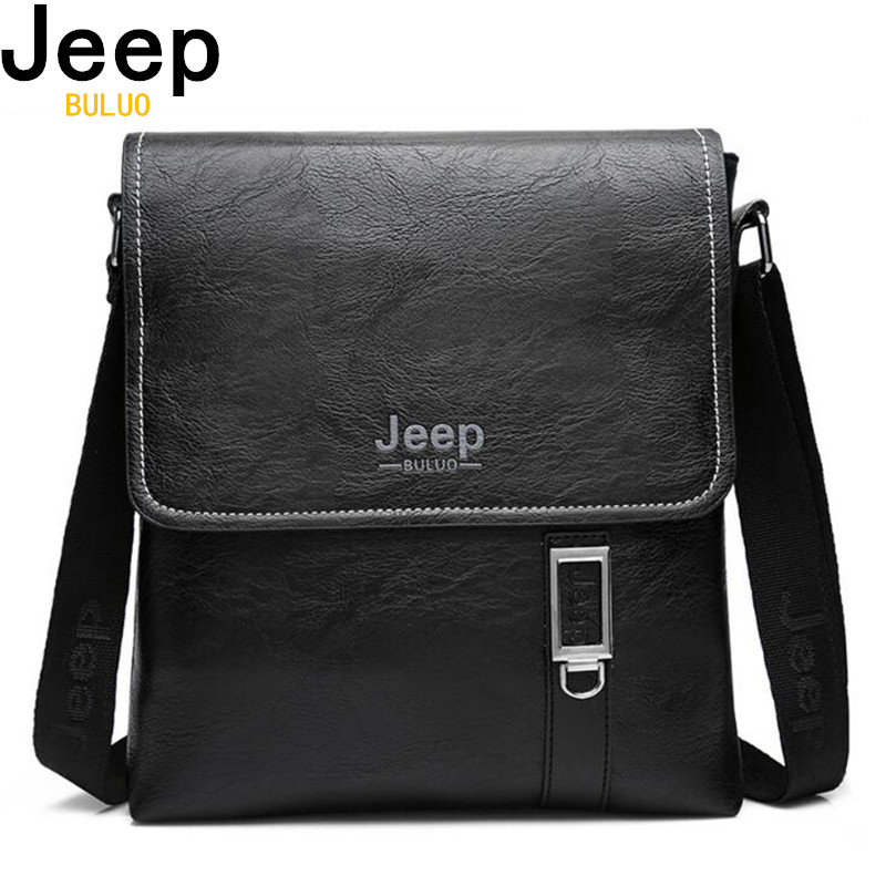 cfc78b43d9 Home   Accessories for Men   Bags for Men   JEEP Brand Men Briefcase Bags  Large New Business High Quality Leather Man Shoulder Crossbody ...